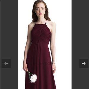 #Levkoff style 7001 chiffon halter gown